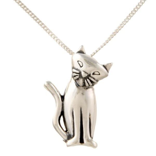 Silvermoon Sterling Silver Cat Necklace