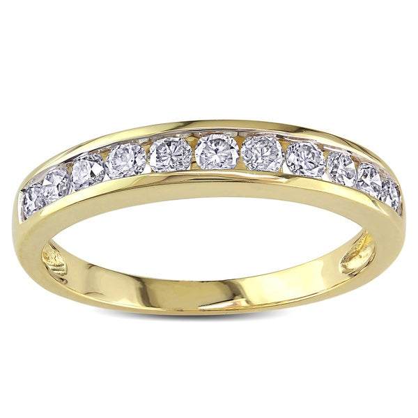 Miadora 14k Yellow Gold 1/2ct TDW Diamond Anniversary Band (H-I, I2-I3)