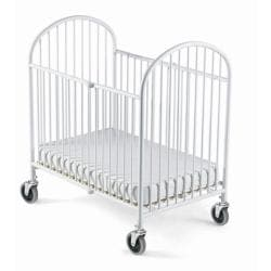 Foundations Pinnacle Steel Folding Crib with Mattress
