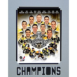 2011 Boston Bruins Stanley Cup Champions Matted Photo
