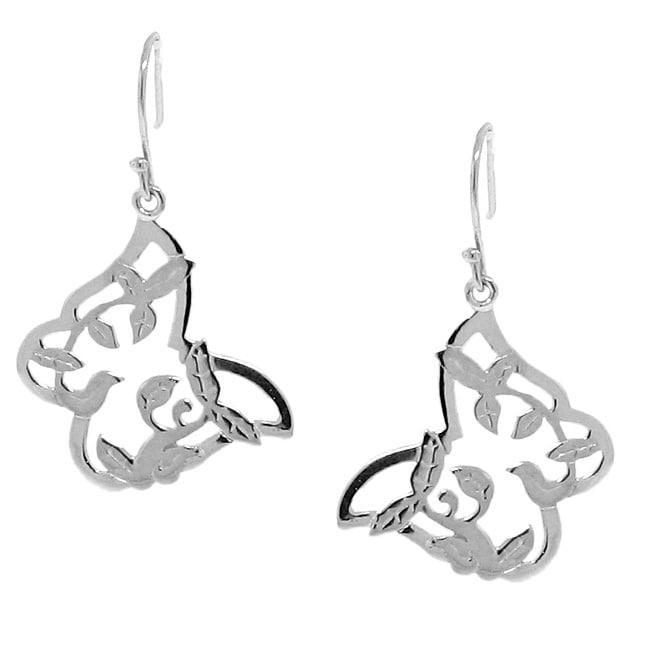 Sterling Silver Butterfly Dangle Earrings