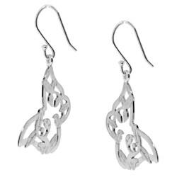 Sterling Silver Butterfly Dangle Earrings - Thumbnail 1