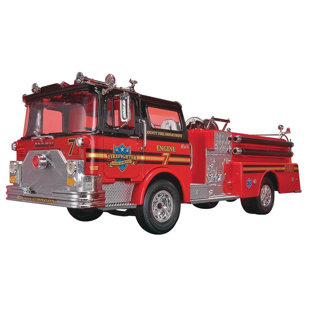 Revell 1:32 Scale Mack Fire Pumper Model Truck - Thumbnail 0