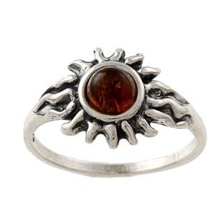 Silvermoon Sterling Silver Amber Sun Ring|https://ak1.ostkcdn.com/images/products/6052970/P13729619.jpg?impolicy=medium