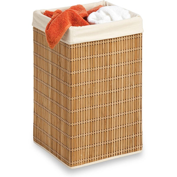Honey Can Do HMP-01620 Bamboo Wicker Square Hamper