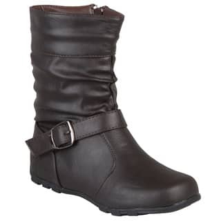 Journee Kids Girl's 'Katie' Slouchy Accent Mid-calf Boots|https://ak1.ostkcdn.com/images/products/6053315/P13729879.jpg?impolicy=medium
