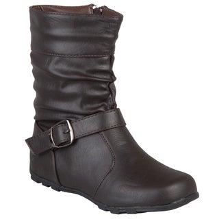Journee Kids Girl's 'Katie' Slouchy Accent Mid-calf Boots (More options available)
