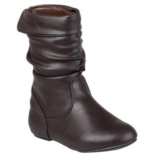 Journee Kids Girl's 'Kgena' Slouchy Accent Boots