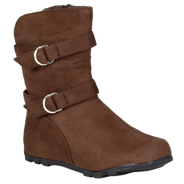 Journee Kids Girl's 'Roxo2' Buckle and Strap Accent Mid-calf Boots