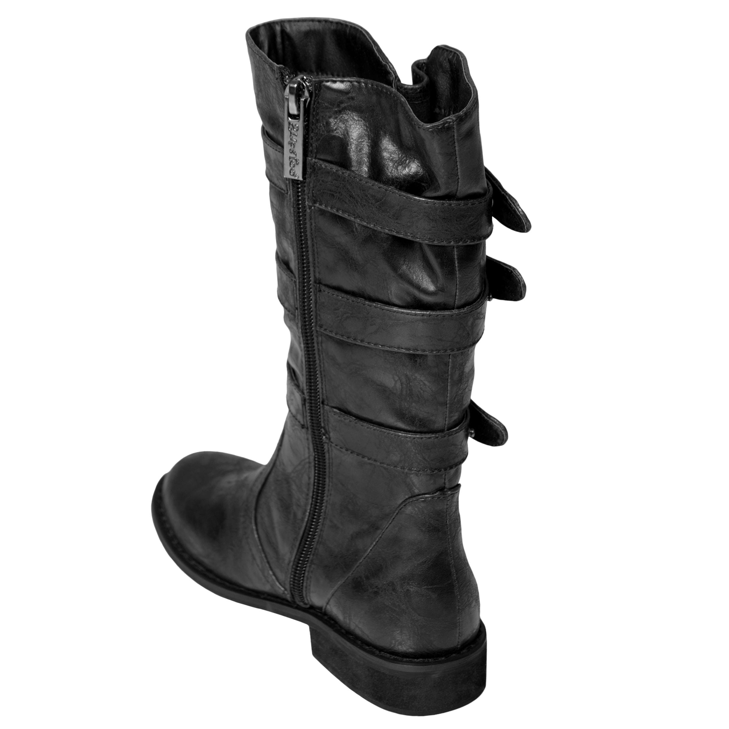 Two Lips Brand Girl's 'TooJolt-K' Snap Detail Mid-calf Boot