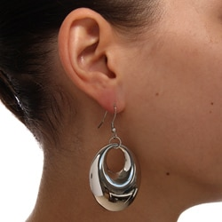 Mondevio Stainless Steel Circle Dangle Earrings