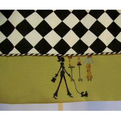 Shopaholic Print Tailored Valance - Thumbnail 1