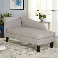 Simple Living Chaise Lounge with Storage Compartment