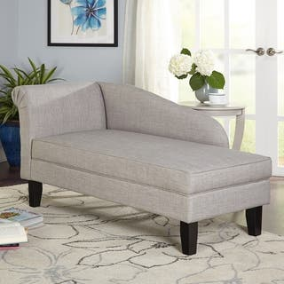 armchairs for living room. Simple Living Chaise Lounge with Storage Compartment Room Chairs For Less  Overstock com