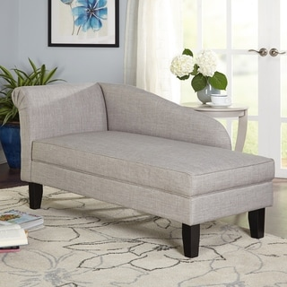 Captivating Simple Living Chaise Lounge With Storage Compartment (2 Options Available)