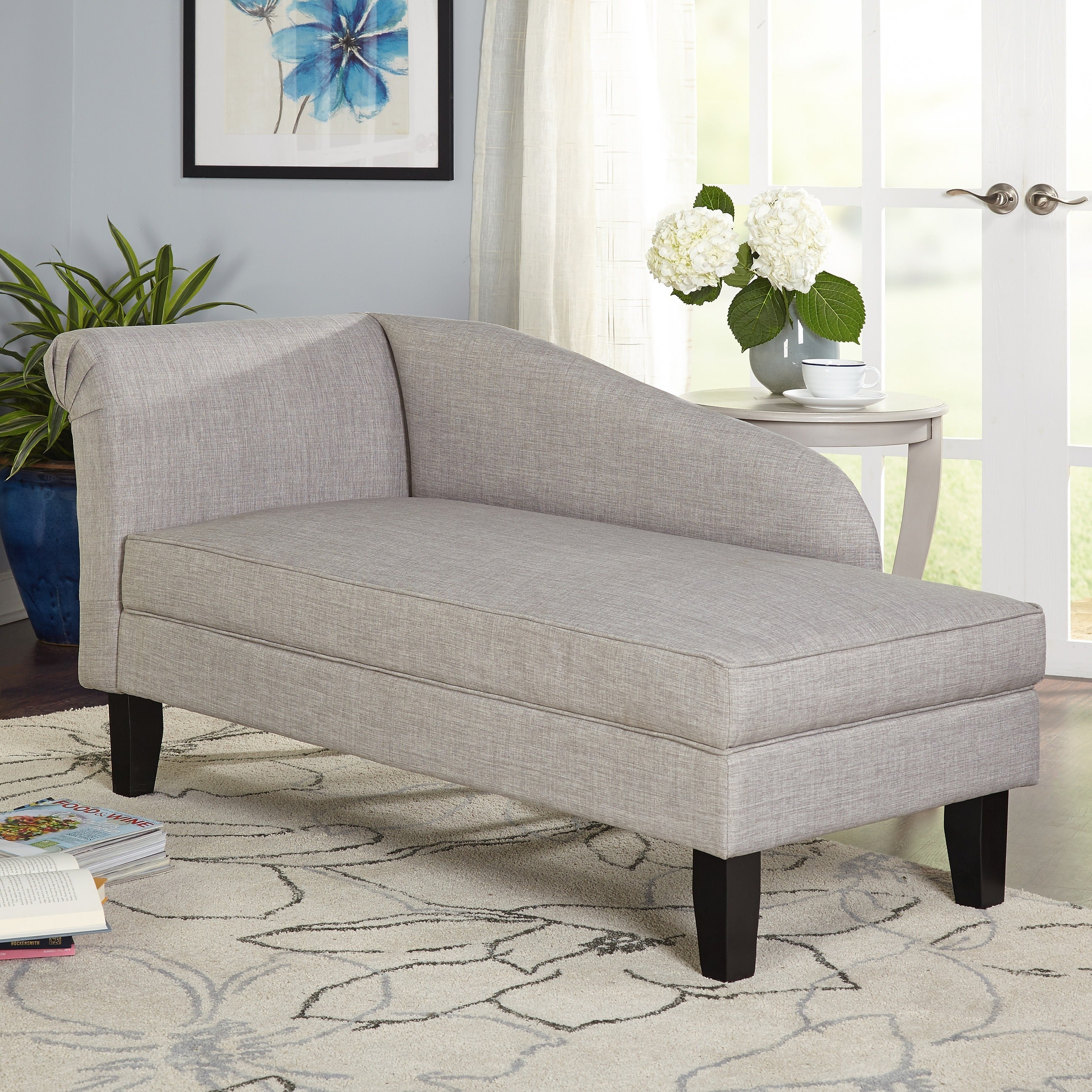 - Shop Simple Living Chaise Lounge With Storage Compartment - On