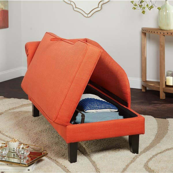 Pleasing Shop Simple Living Chaise Lounge With Storage Compartment Ibusinesslaw Wood Chair Design Ideas Ibusinesslaworg