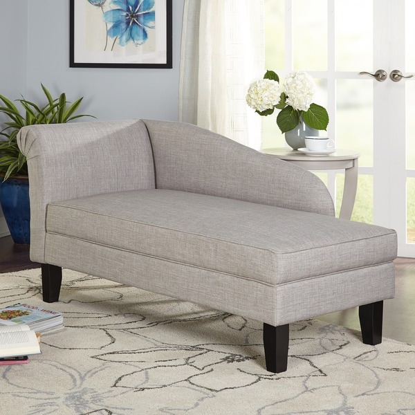 Simple Living Leena Storage Chaise Lounge