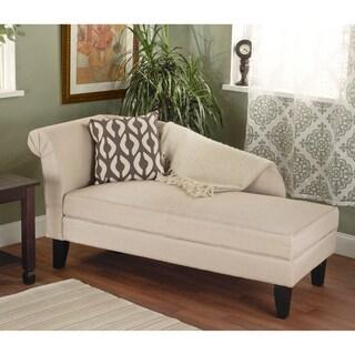 Simple Living Leena Storage Chaise Lounge