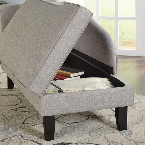 Amazing Simple Living Chaise Lounge With Storage Compartment   Free Shipping Today    Overstock.com   13729992