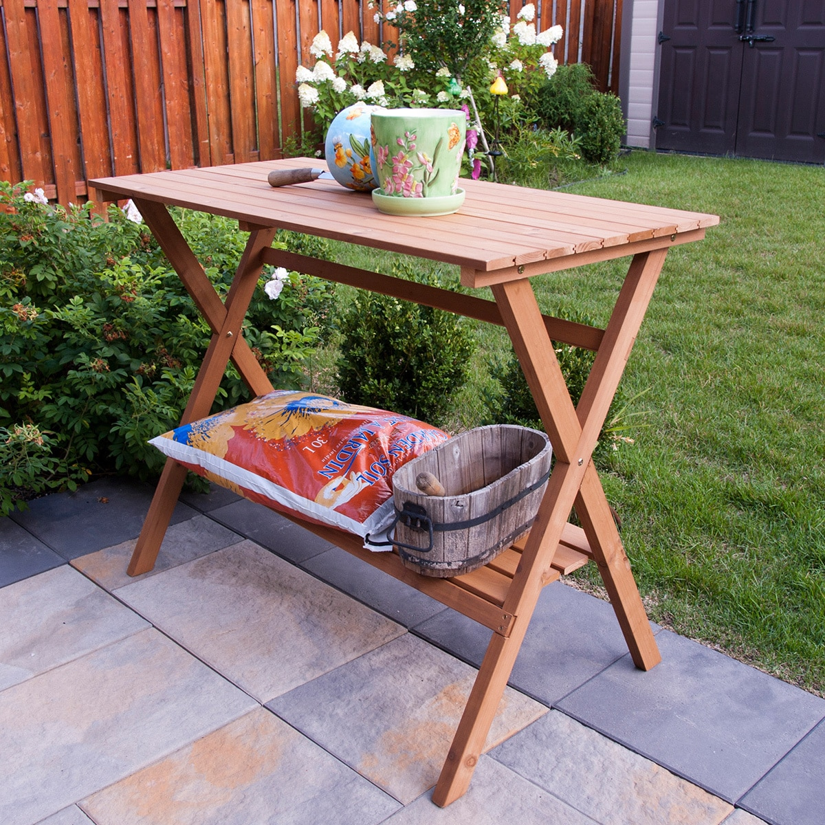 Merry Products Wood Console Table/ Potting Bench (MPG-PB0...