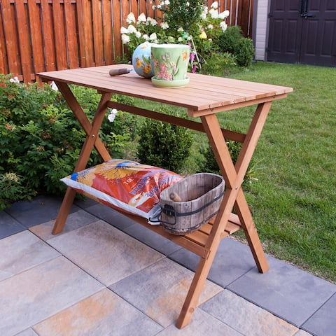 Merry Products Wood Console Table/ Potting Bench