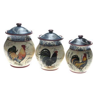 Certified International Lille Rooster 3-piece Cannister Set|https://ak1.ostkcdn.com/images/products/6053577/P13730039.jpg?impolicy=medium