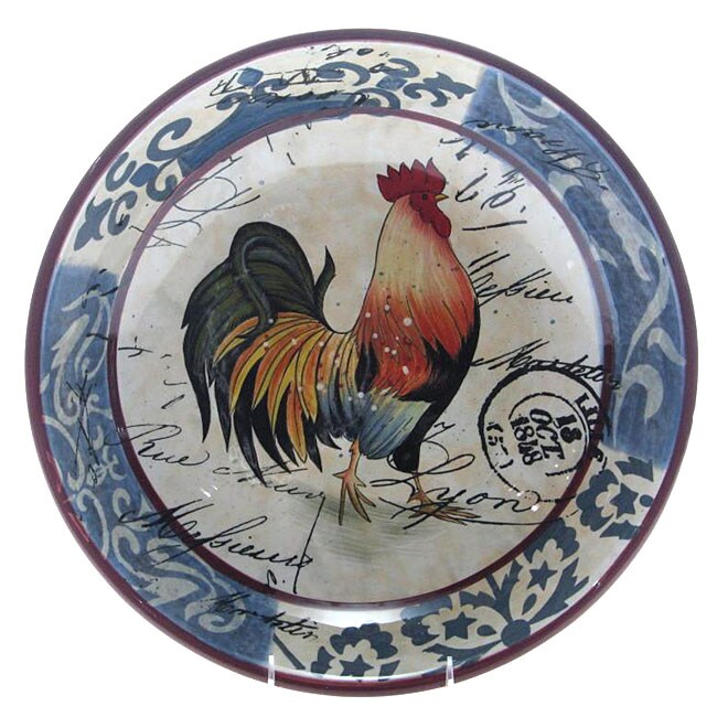 Certified International Lille Rooster 13-inch Pasta/ Serving Bowl