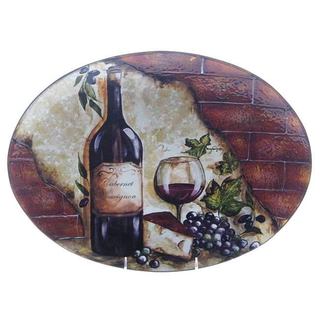 Certified International Wine Cellar Oval Platter