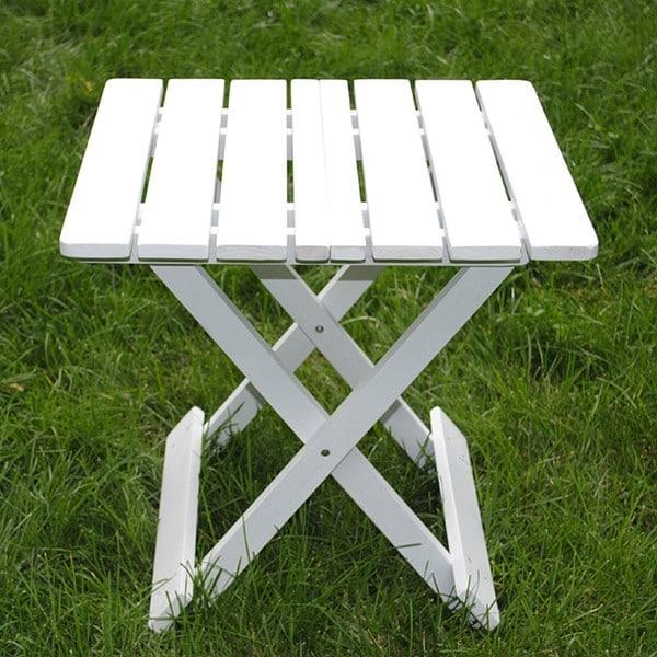 White Folding Adirondack Side Table Free Shipping On