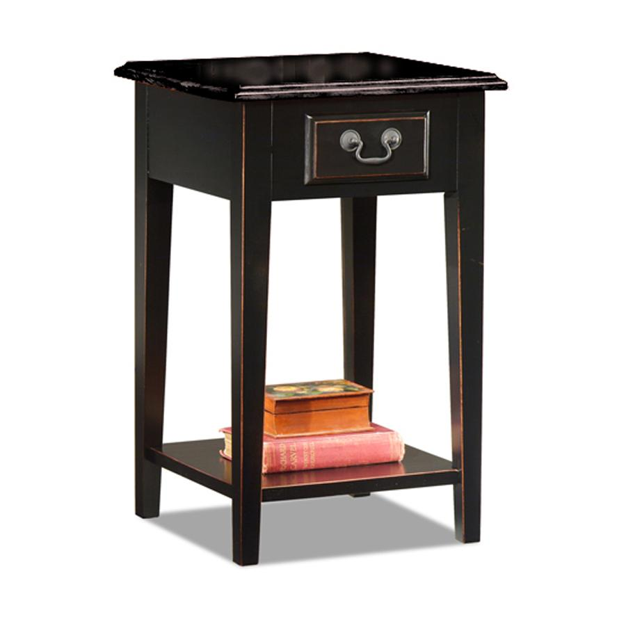 Black Oak Edged Square Side Table Free Shipping Today
