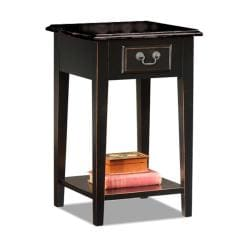 Black Oak-edged Square Side Table