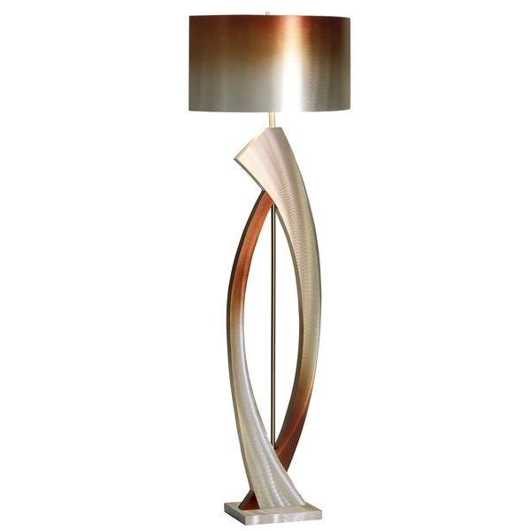 "Nova Lighting ""Swerve"" Aluminum Floor Lamp"