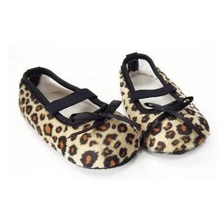 Brown Leopard Infant Girl Crib Shoes