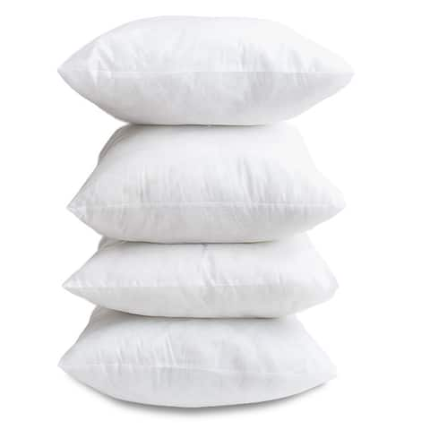Hypoallergenic 18-inch Decor Pillow Inserts (Set of 4)