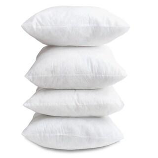 pillow insert 16x16. hypoallergenic 18-inch decor pillow inserts (set of 4) insert 16x16