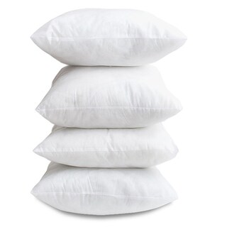 White Hypoallergenic 18-inch Decor Pillow Inserts (Set of 4)