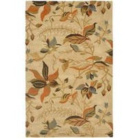 Safavieh Handmade Blossom Paradise Beige Wool Rug (4' x 6') - 4' x 6'