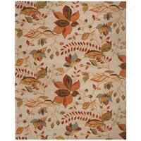 Safavieh Handmade Blossom Paradise Beige Wool Rug - 5' x 8'