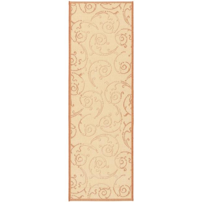 Safavieh Oasis Scrollwork Natural/ Terracotta Indoor/ Out...