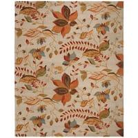 Safavieh Handmade Blossom Paradise Beige Wool Rug - 8' X 10'