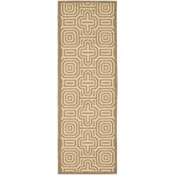 Safavieh Brown/ Natural Indoor Outdoor Rug (2'4 x 6'7)