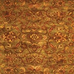 Safavieh Handmade Golden Jaipur Green/ Rust Wool Rug (8' Square)