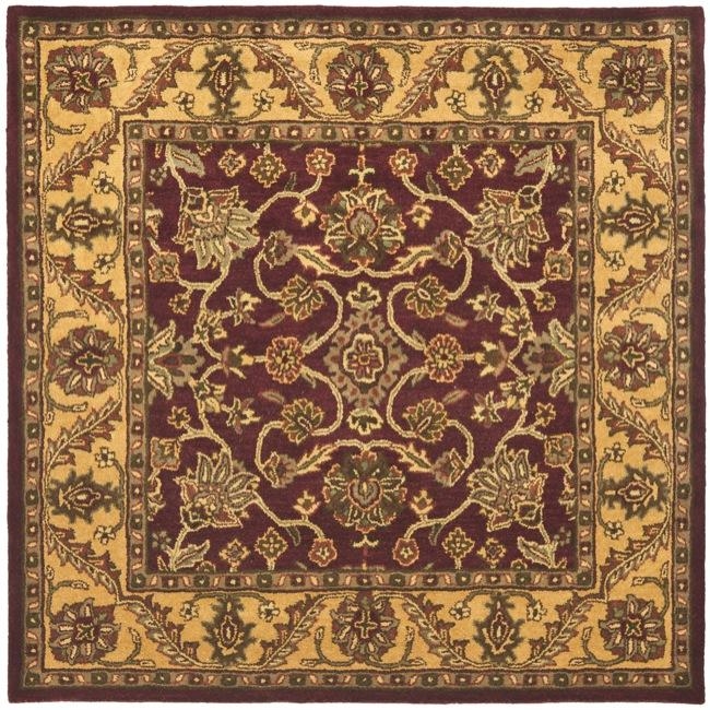 Safavieh Handmade Golden Jaipur Burgundy/ Gold Wool Rug (6' Square)