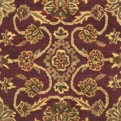 Safavieh Handmade Golden Jaipur Burgundy/ Gold Wool Rug (6' Square) - Thumbnail 2