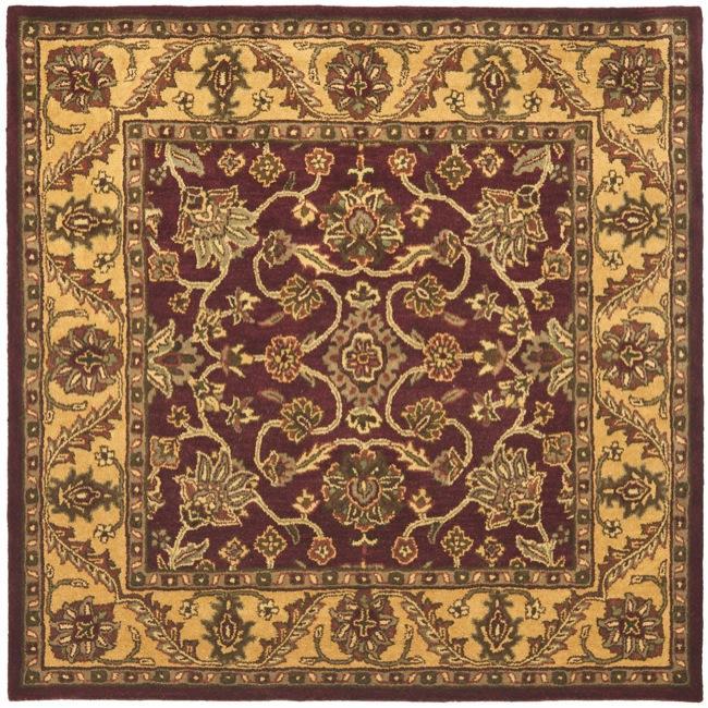 Safavieh Handmade Golden Jaipur Burgundy/ Gold Wool Rug (8' Square)