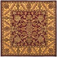 Safavieh Handmade Golden Jaipur Burgundy/ Gold Wool Rug - 8' x 8' Square