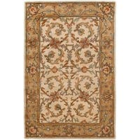 Safavieh Handmade Heritage Timeless Traditional Beige/ Gold Wool Rug - 4' x 6'