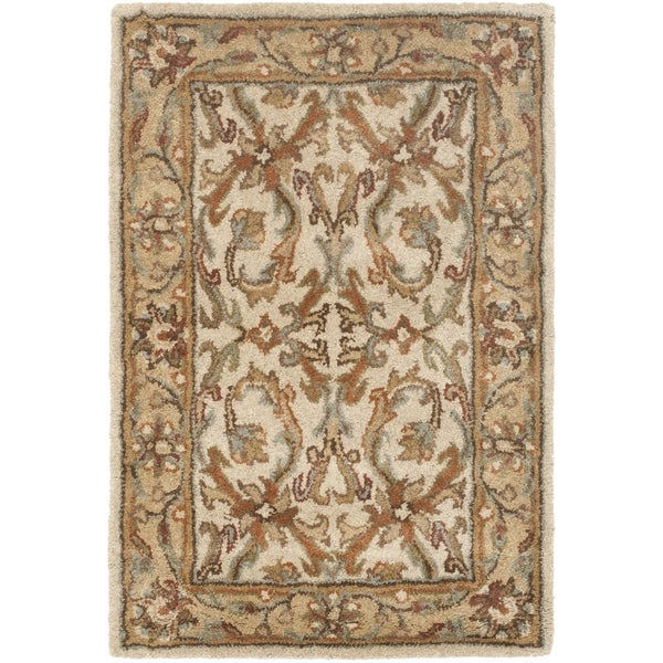 Safavieh Handmade Heritage Timeless Traditional Beige/ Gold Wool Rug (2' x 3')