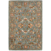 Safavieh Handmade Heritage Timeless Traditional Blue Wool Rug - 2' X 3'